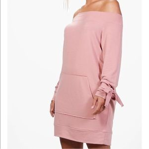 Plus size off the shoulder sweater dress
